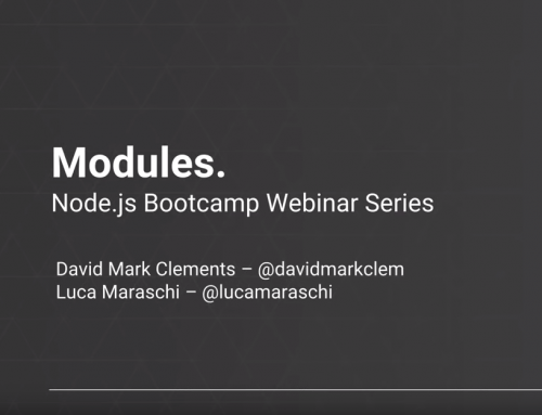 Node.js Modules – NearForm bootcamp series