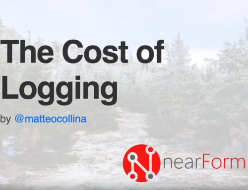 The Cost of Logging – Video from Node Week