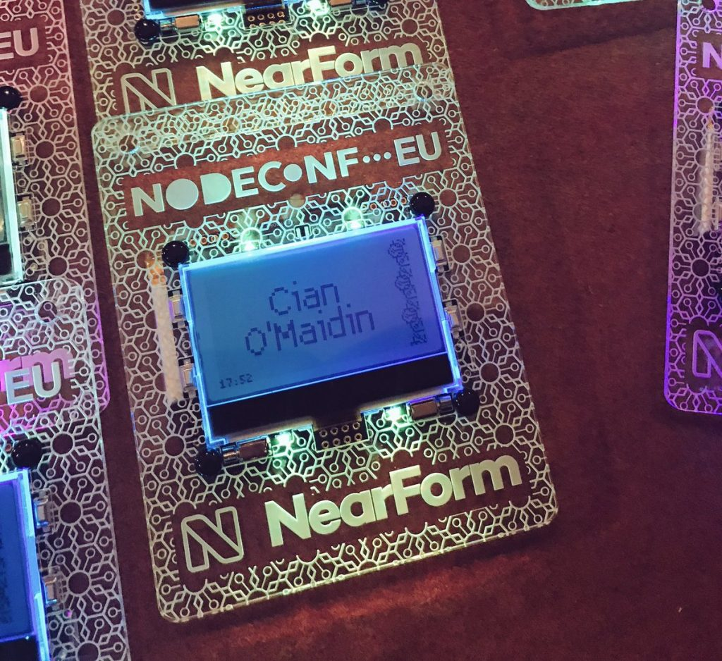 The NodeConf EU 2018 Digital Badge is here and it's fabulous