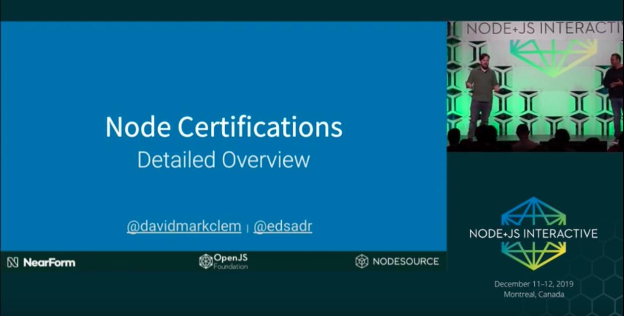 Node.js Certifications Detailed Overview - David Clements & Adrian Estrada: Tech Talk Video
