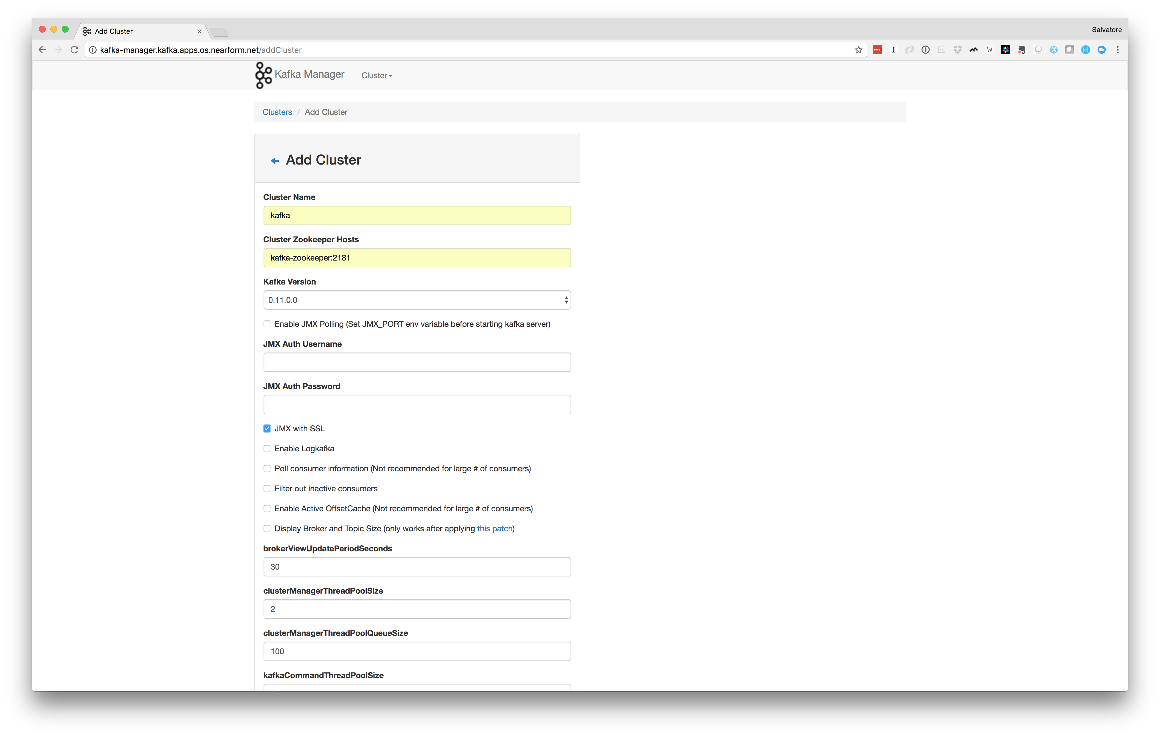 Benchmarking Apache Kafka deployed on OpenShift with Helm