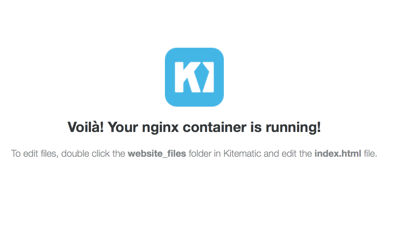 Successfully deployed NGINX container